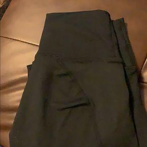 Fabletics black Capri workout leggings